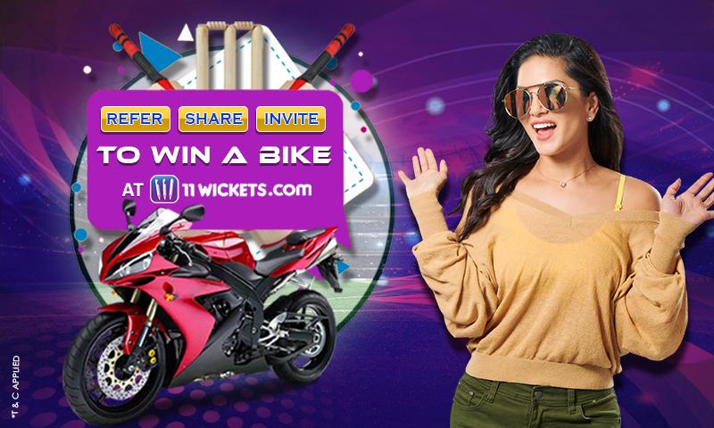 Participate in 11Wickets' 'Win a Bike' contest - Glaws India