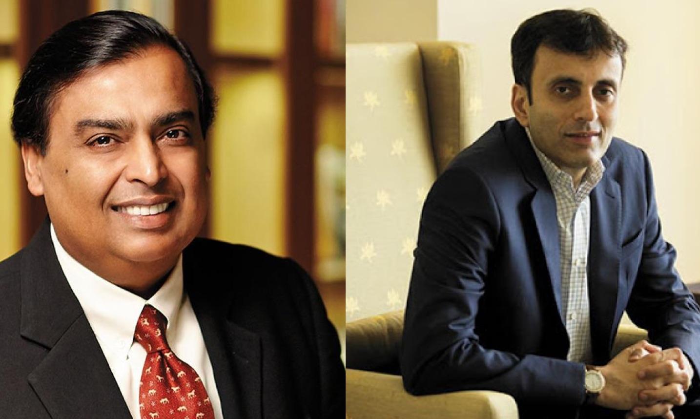 Mukesh ambani and Ruchir sharma